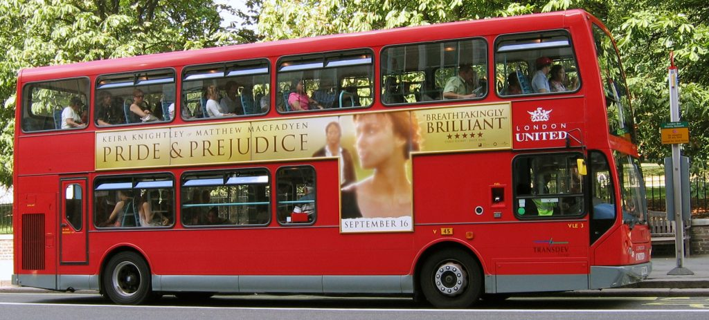 Pride and Prejudice Bus London