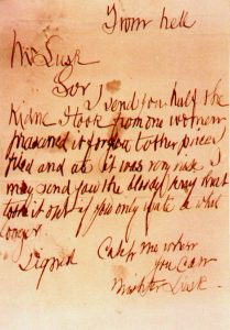 Bekennerbrief From Hell Jack the Ripper
