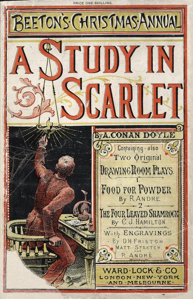 Cover A Study in Scarlet auf Beetons Christmas Annual