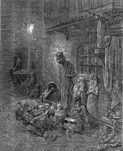 Zeichnung Gustave Doré Londoner Slums