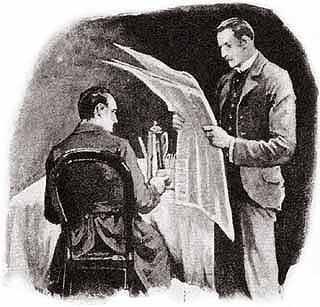 Illustration The Five Orange Pips Sherlock Holmes