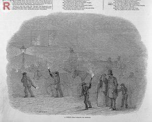 Illustration Londoner Smog im 19. Jahrhundert