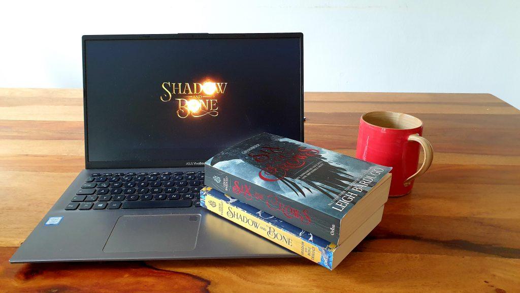 Shadow and Bone Serienlogo und Buchcover