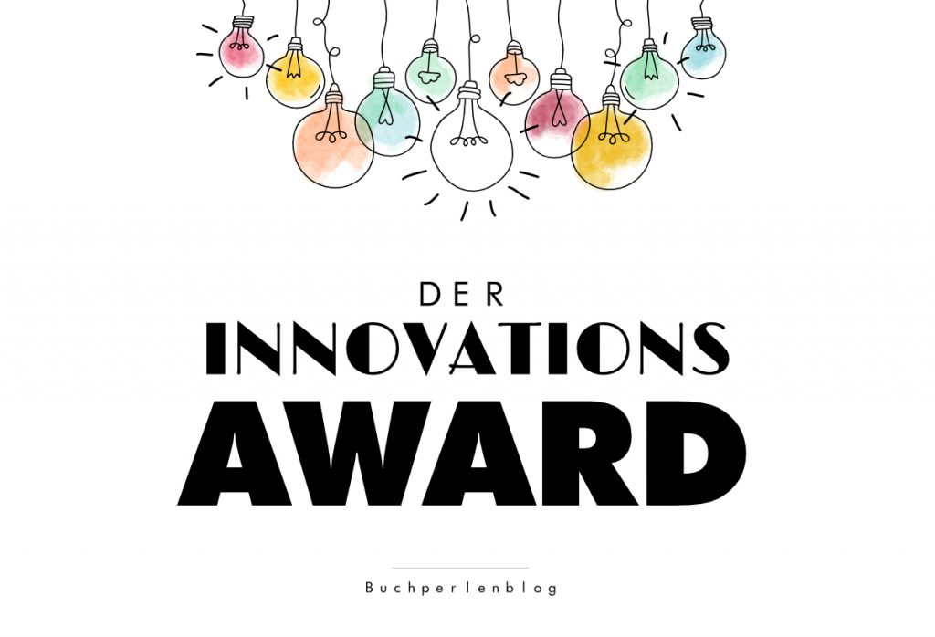 Logo Innovations-Award mit Glühbirnen und Schriftzug.